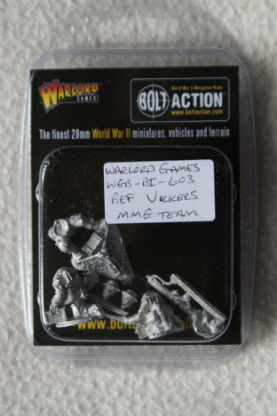 Warlord Games 28mm WGB-BI-061 British Expeditionary Force Vickers MMG Team